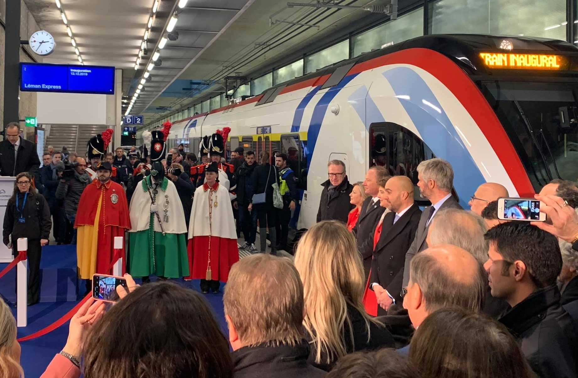 cérémonie inauguration Léman Express